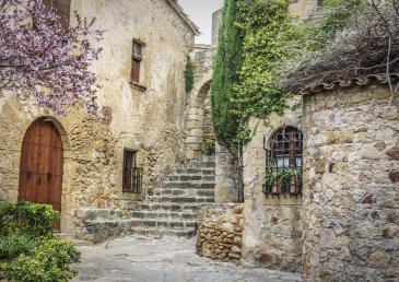 Pueblo medieval de la Costa Brava